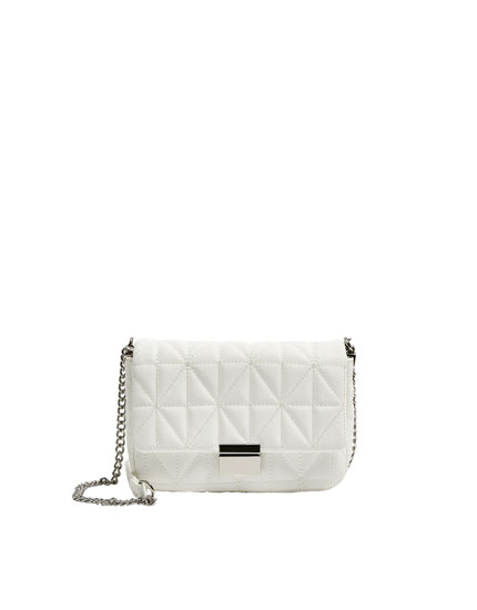 Quilted white crossbody bag