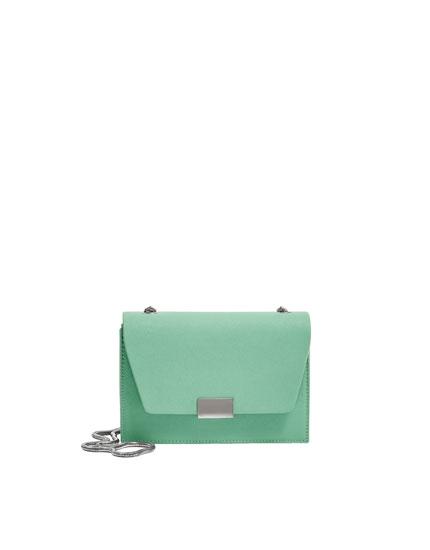 Πράσινη τσάντα χιαστί