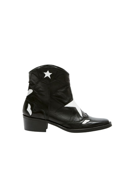 Leather star boots