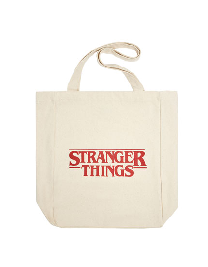 "Bolso shopper ""Stranger Things"" blanco"