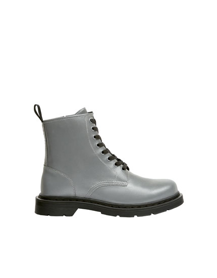 Tumbled military boots