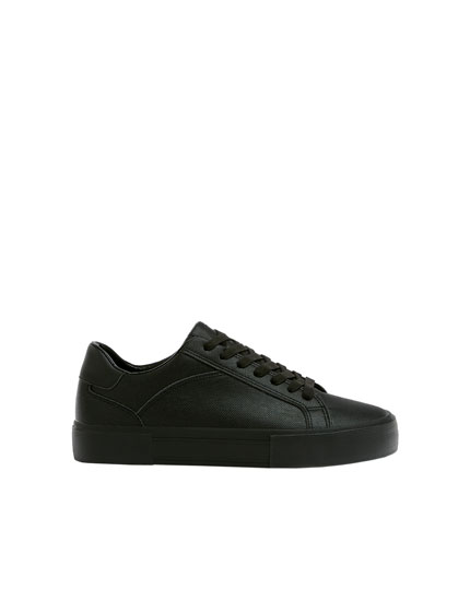 Embossed fabric trainers
