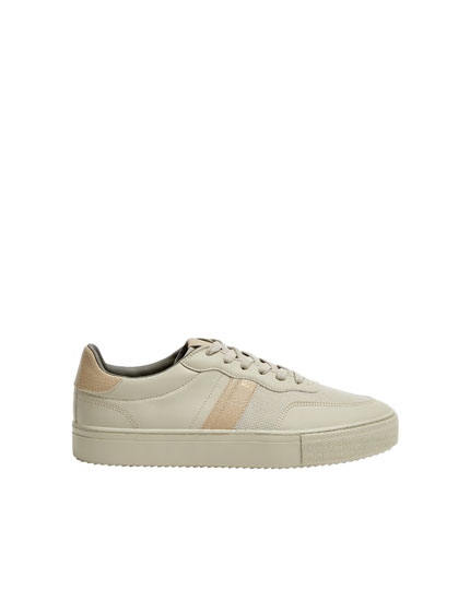 Trainers with chunky soles and stripe detail