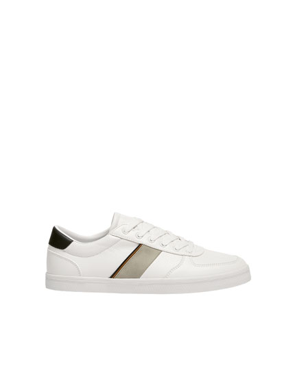 White detailed trainers