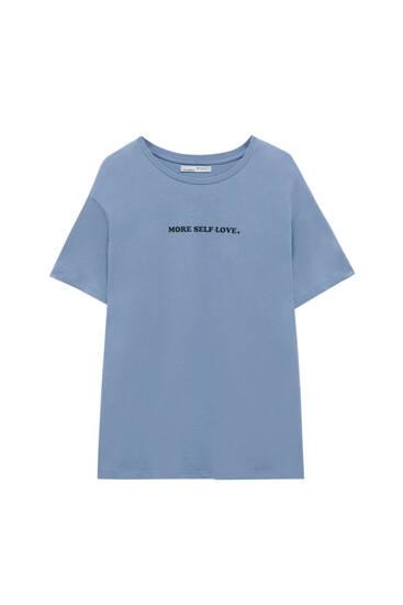 Camiseta texto pecho - 100% algodón orgánico