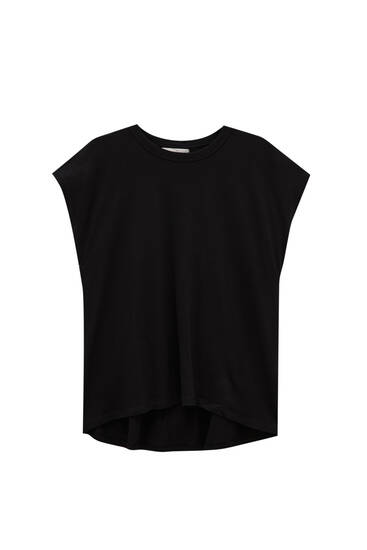 Camiseta básica bajo asimétrico - 100% algodón orgánico