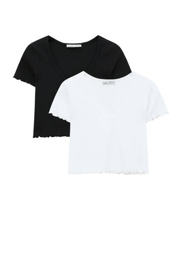 Pack of cropped T-shirts