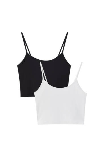 Pack of strappy crop tops