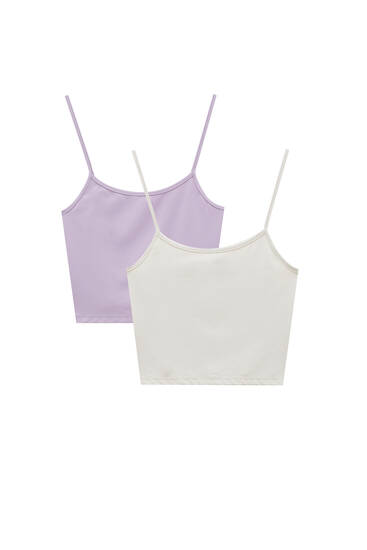 Pack tops cropped tirantes
