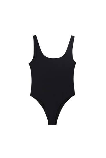 Basic open back bodysuit