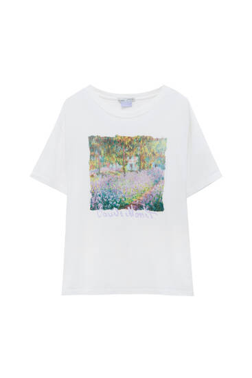 White Monet T-shirt - 100% ecologically grown cotton