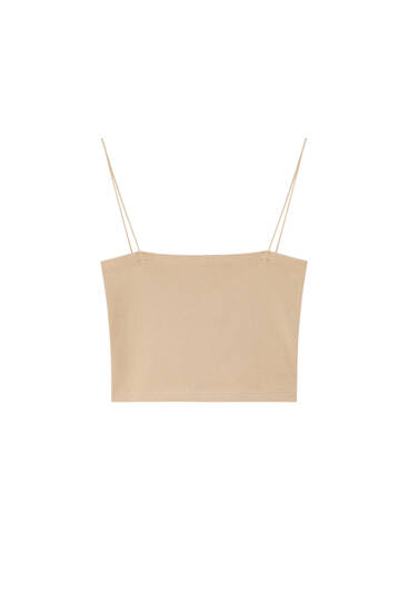 Basic crop top with thin straps