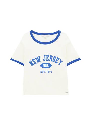 T-shirt New Jersey met contrast