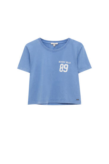 Blue T-shirt with number print