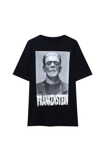 T-shirt Frankenstein noir