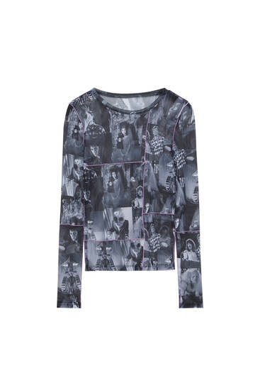 All-over Beetlejuice tulle T-shirt