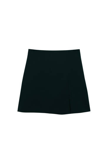 Basic mini skirt with vent