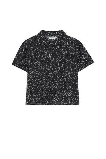 Lepršava košulja s točkastim uzorkom