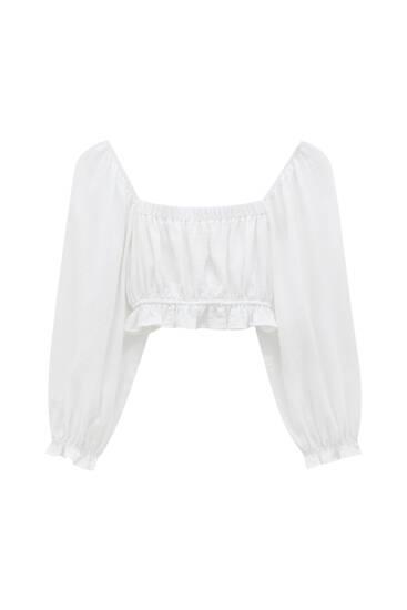 Blusa blanca corsario