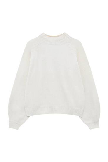Chenille mock neck sweater