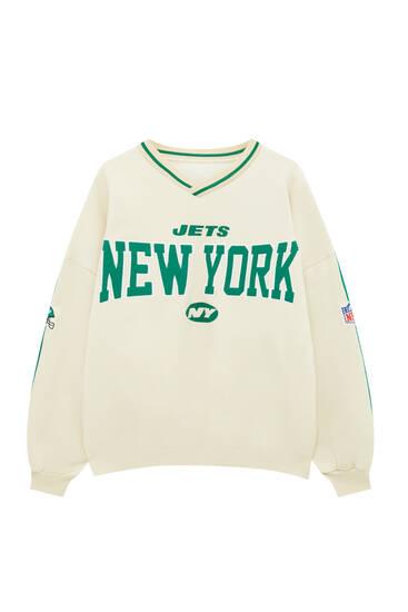 Sweat NFL New York Jets col en V