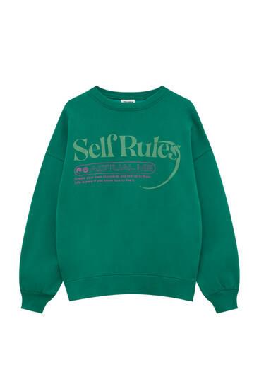 Self Rules sweatshirt