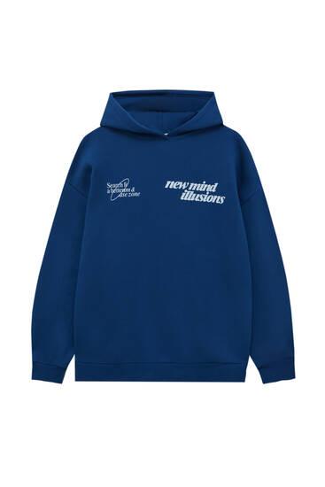 New Mind graphic print hoodie