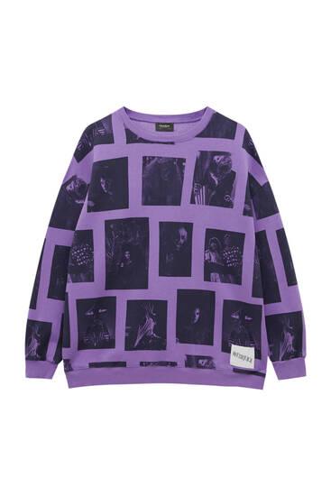 Mauve Beetlejuice sweatshirt