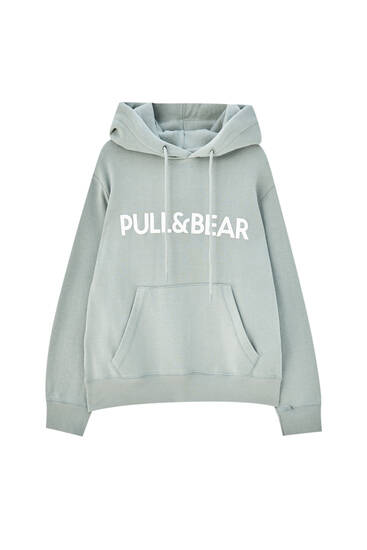 Pull&Bear logo pouch pocket hoodie