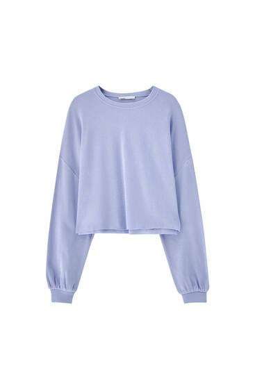 Oversize cropped sweatshirt