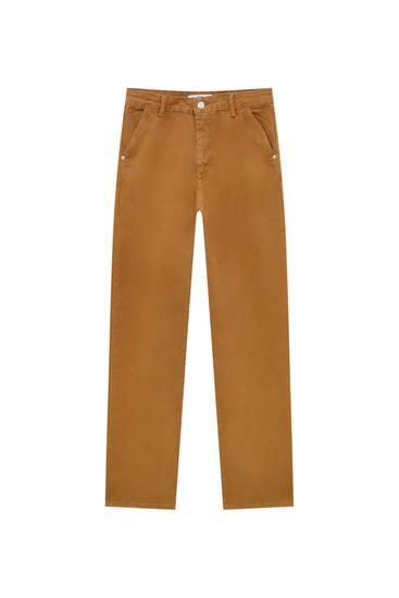 Straight-Leg-Jeans mit niedrigem Bund in verschiedenen Farben