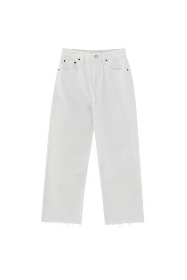 Pantalón recto cropped colores