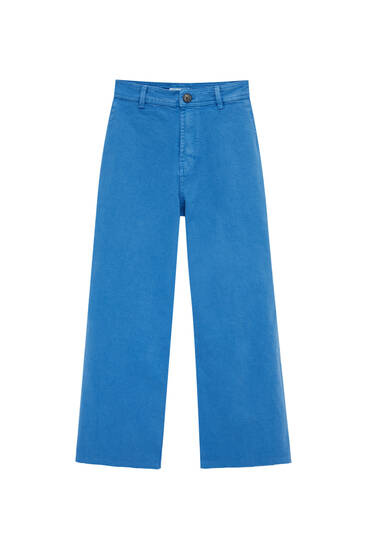 Wide-leg jeans - at least 50% ecologically grown cotton