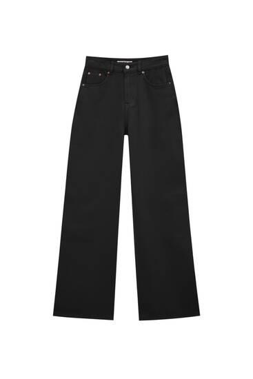 Wide leg jeans in kleur