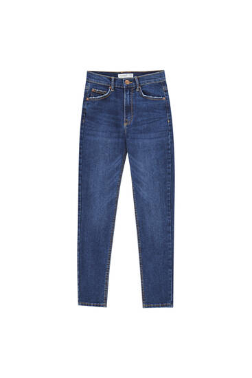 Mid-waist skinny jeans - Ecologically grown cotton (at least 50%)
