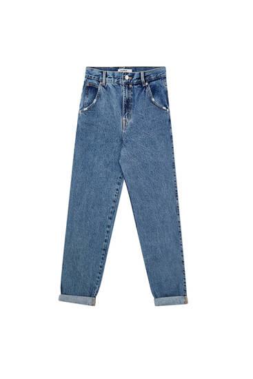 High-waist basic slouchy jeans