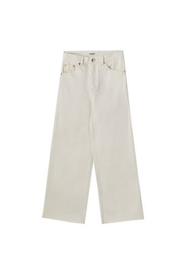 Jupe-culotte en jean basique