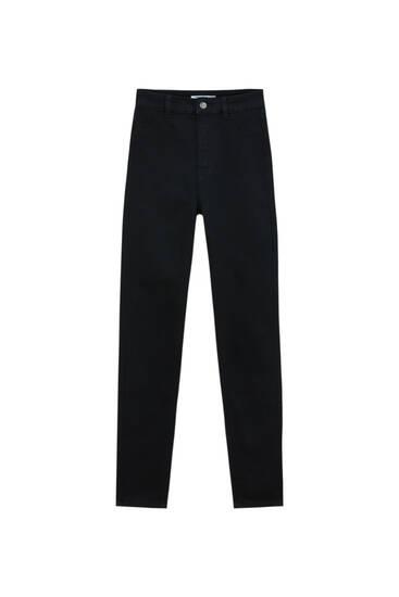 Stretchy high-waist skinny jeans