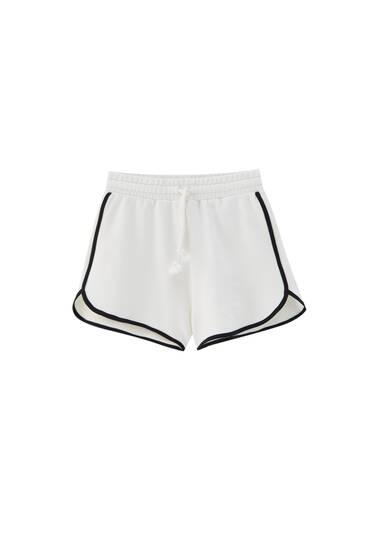 Contrast ribbed boxing shorts