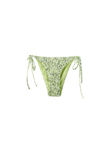 Smocked bikini bottoms - recycled polyester (at least 50%)
