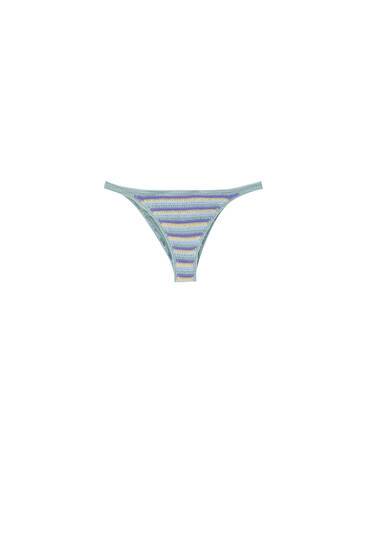 Braguita bikini crochet rayas