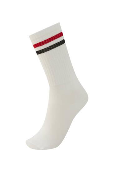 Спортивные носки с полосками