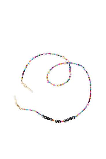 Letter beads retainer