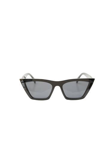 Rectangular cateye glasses