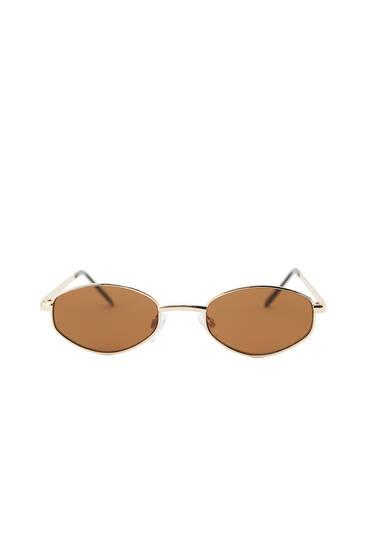 Geometric print framed sunglasses