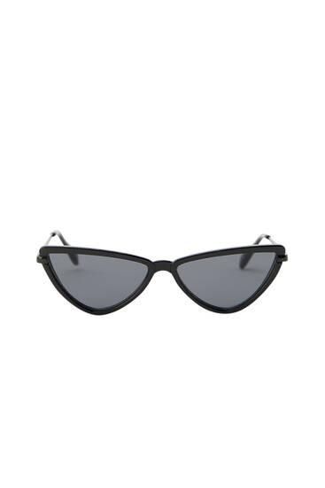 Geometric cateye sunglasses