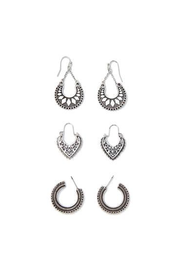 3-pack of earrings
