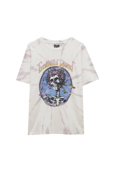 Tie-dye Grateful Dead T-shirt - ecologically grown cotton (at least 50%)