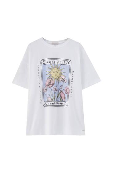 Camiseta gráfico esotérico