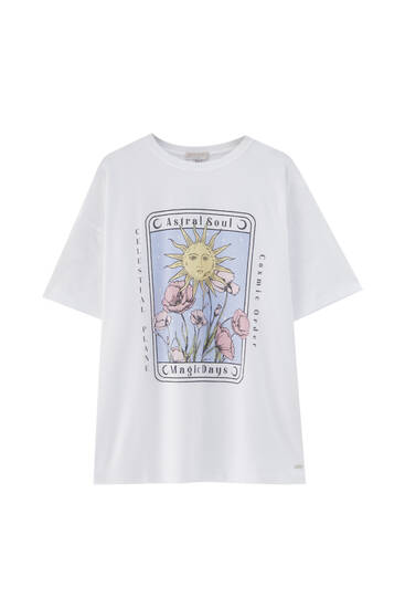 T-shirt with esoteric graphic